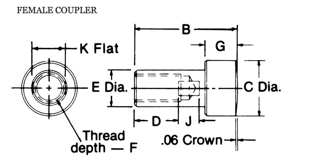 E&E E162 Female Cylinder Coupler